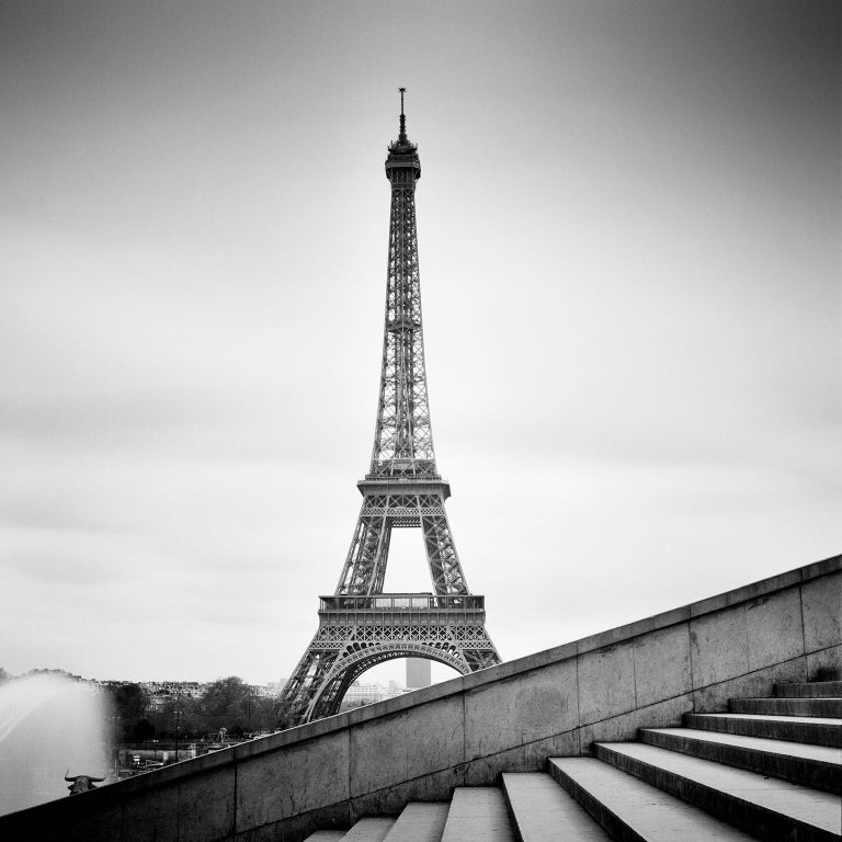 Gerald Berghammer, Ina Forstinger Landscape Photograph - Eiffel Tower Study 13, Paris, France - Black and White fine art film photography