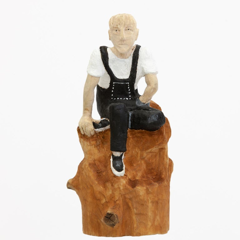 """Topu Abstract Sculpture - """"emil"""" - Unikat - Hand-carved wooden figures"""