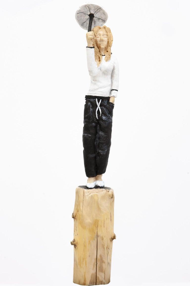 "Topu Figurative Sculpture - ""emma"" - Unikat - Hand-carved wooden figures"
