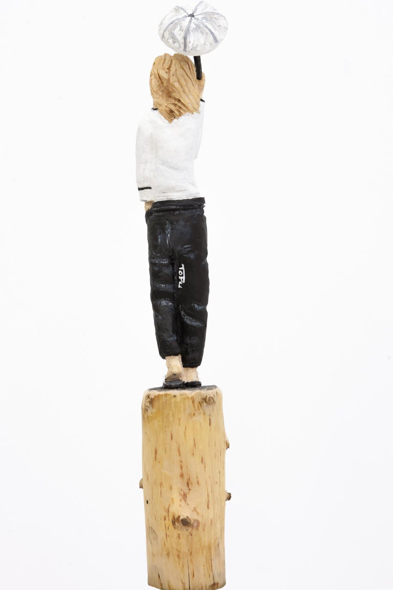 Hand-carved wooden figures - made of spruce, finished with acrylic and/or  wood stain.