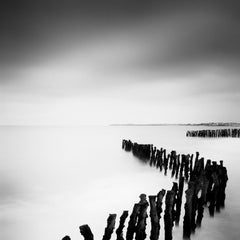Sea Breakers, France - Black and White fine art long exposure film photography