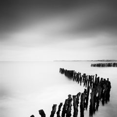 Sea Breakers, France, minimalist black and white photography, landscape, prints