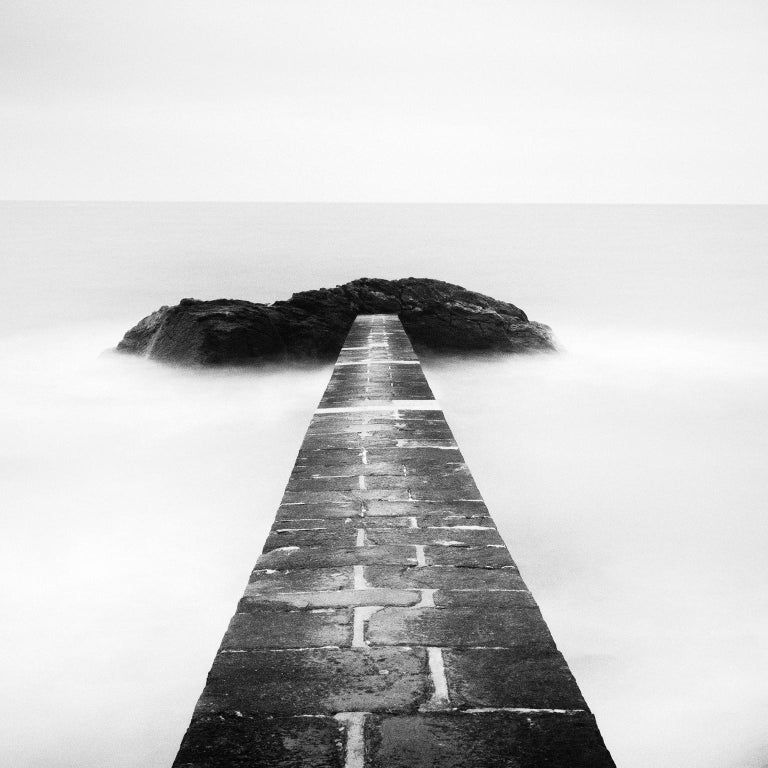 Black End, France - Black and White fine art long exposure analogue photography - Photograph by Gerald Berghammer