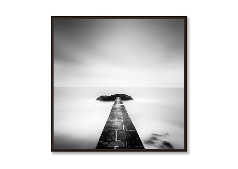 Black End, France - Black and White fine art long exposure analogue photography - Contemporary Photograph by Gerald Berghammer