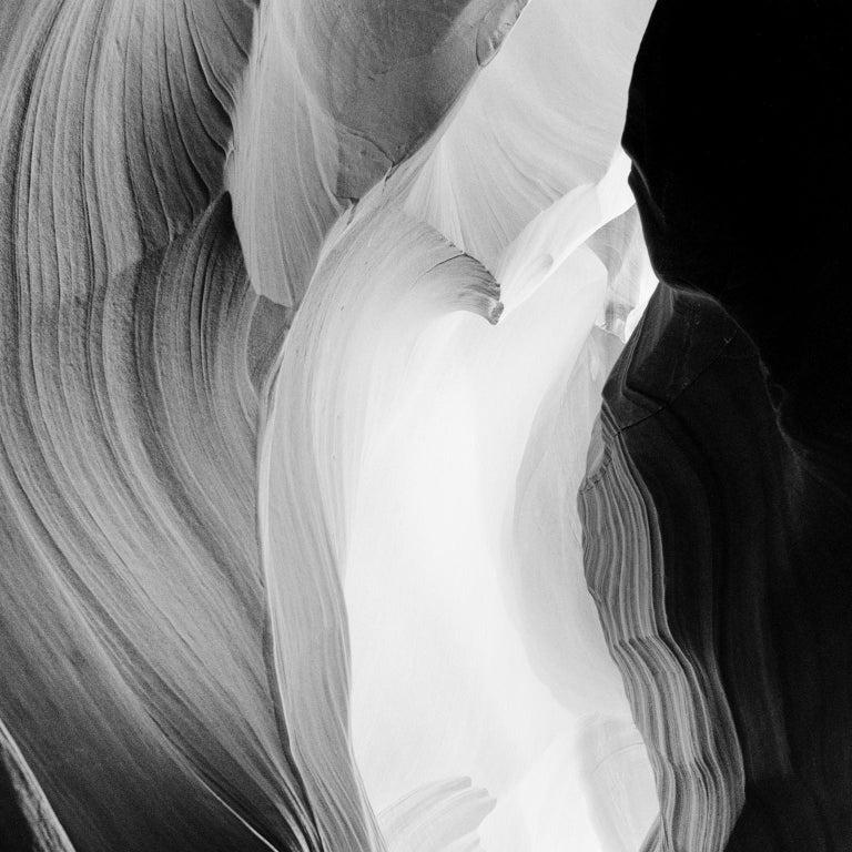 Antelope Canyon Study 6, Arizona, USA - Black and White landscape photography For Sale 1