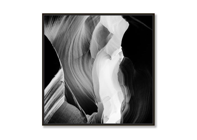 Antelope Canyon Study 6, Arizona, USA - Black and White landscape photography For Sale 2