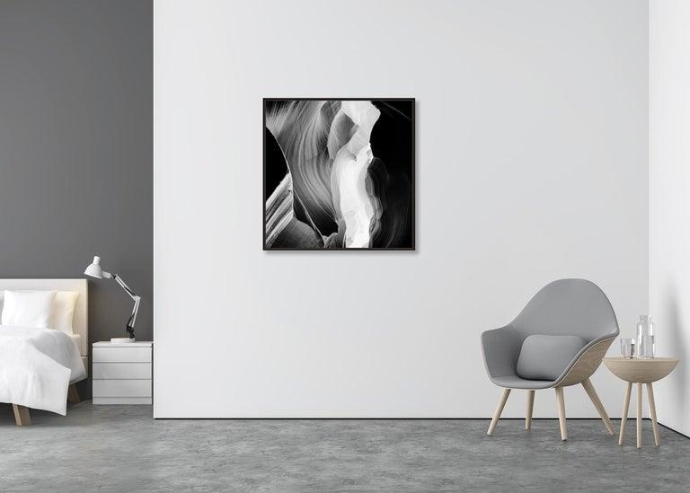 Antelope Canyon Study 6, Arizona, USA - Black and White landscape photography For Sale 3