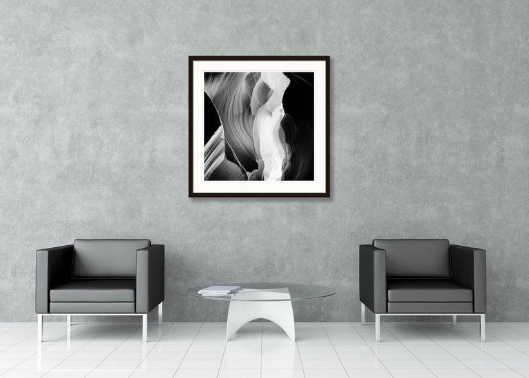 Antelope Canyon Study 6, Arizona, USA - Black and White landscape photography For Sale 5