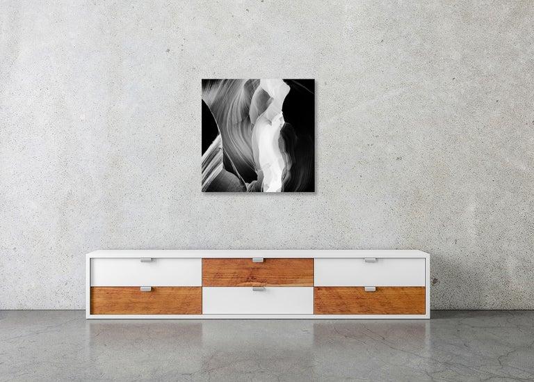 Antelope Canyon Study 6, Arizona, USA - Black and White landscape photography For Sale 6
