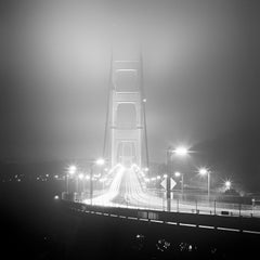 Golden Gate Night Study, California, USA - Black and White fine art photography