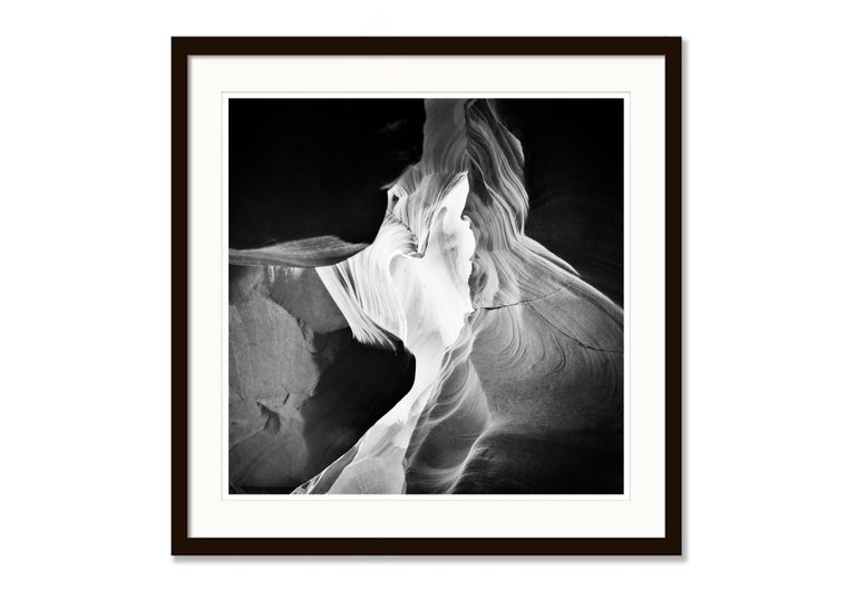 Antelope Canyon Study 9, Arizona, USA - Black and White landscape photography For Sale 1