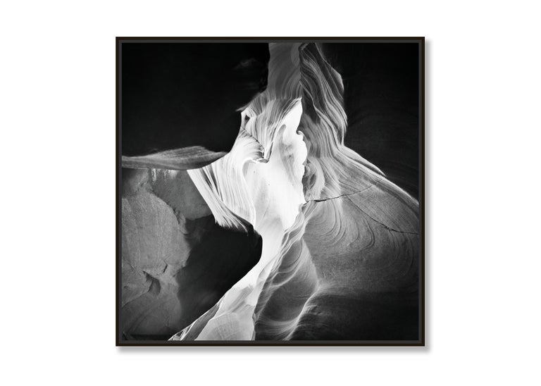 Antelope Canyon Study 9, Arizona, USA - Black and White landscape photography - Abstract Photograph by Gerald Berghammer