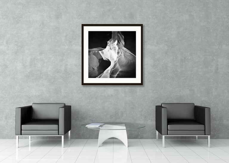 Antelope Canyon Study 9, Arizona, USA - Black and White landscape photography For Sale 2