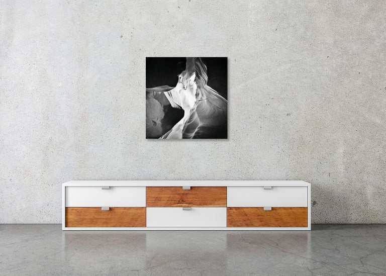 Antelope Canyon Study 9, Arizona, USA - Black and White landscape photography For Sale 3