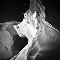 Antelope Canyon Study 9, Arizona, USA - Black and White landscape photography