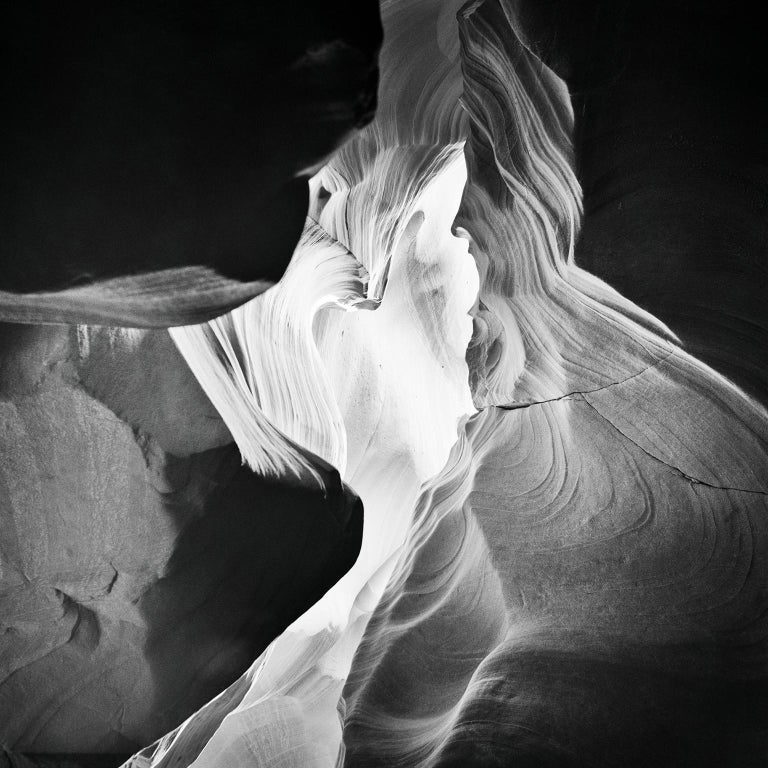Gerald Berghammer Black and White Photograph - Antelope Canyon Study 9, Arizona, USA - Black and White landscape photography