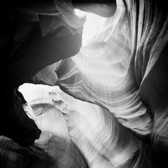 Antelope Canyon Study 2, Arizona, USA - Black and White landscape photography