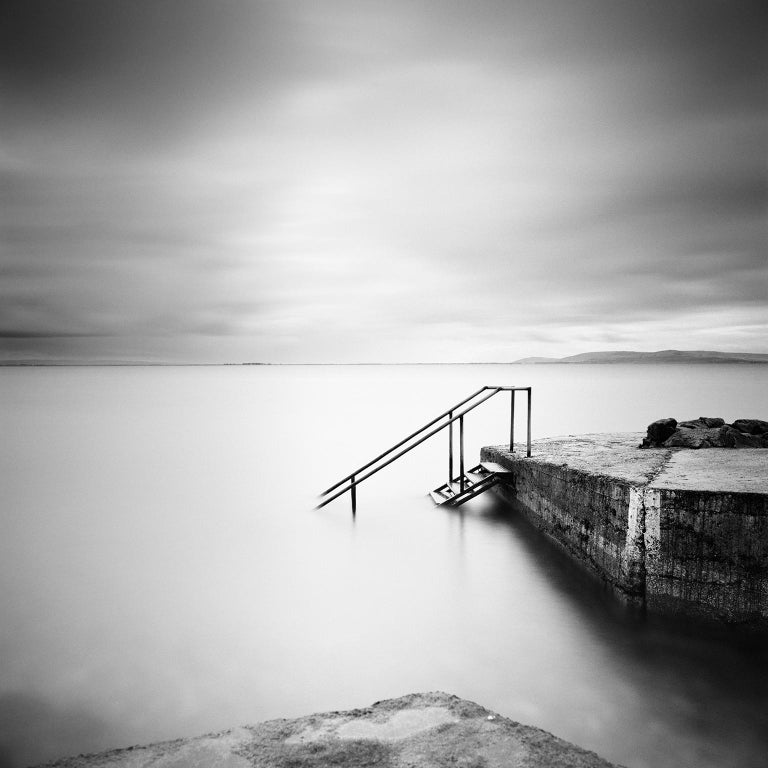 Gerald Berghammer Landscape Photograph - Four Steps Down, Ireland - Black and White Long Exposure Fine Art Photography