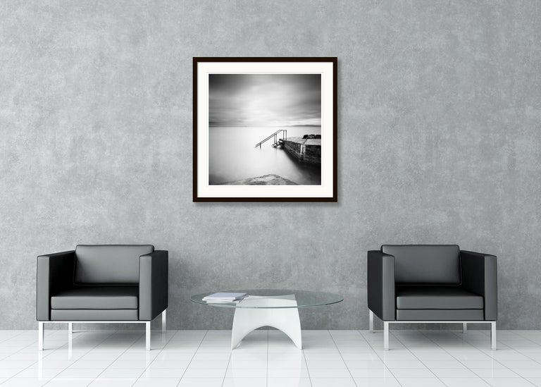 Four Steps Down, Ireland - Black and White Long Exposure Fine Art Photography For Sale 3