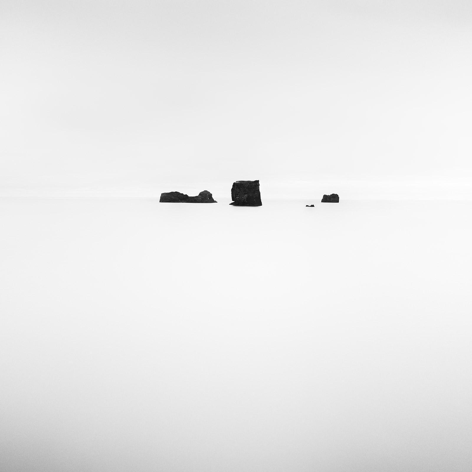 Black Rocks, Iceland, minimalist black and white fine art landscape photography
