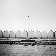 Bench on the Promenade 1, France - Black and White analogue fine art Photography