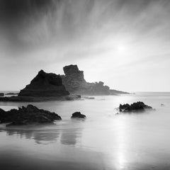 Stranded In Paradise, Beach, Spain, black and white art photography, landscape
