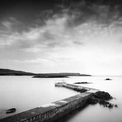 Pier Study #1, Ireland - Black and White fine art long exposure waterscapes