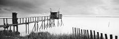 PK 51880 Panorama, Stilt House, France, black and white photography, landscapes