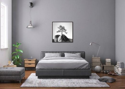 White Landscape Art Photography, Art Van Abbott Queen Storage Bed