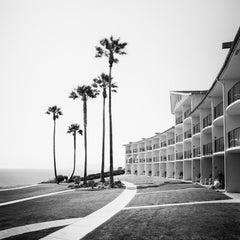 Palms Motel, Santa Barbara, California, minimalist black and white landscapes