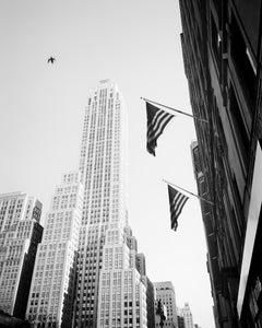 Bird in the City, New York City, USA - B&W Fine Art Cityscape Film Photography