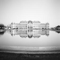 Upper Belvedere, Vienna, Austria, black and white photography, art landscapes