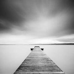 Storm Romance, Austria, Lake, black and white fine art photography, landscape