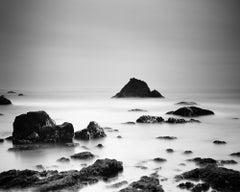 North Pacific Coast, California, USA, black and white photography, landscape
