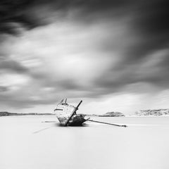 Bad Eddies Boat #3, Ireland - Black and White fine art  waterscapes photography