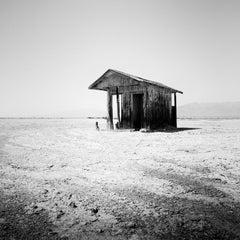 Bath House, Salton Lake, California, USA black and white photography, landscapes
