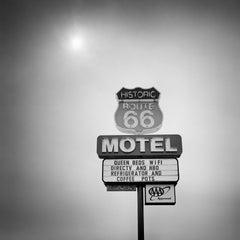 Historic Route 66 Motel, AZ, USA - Black and White fine art film photography