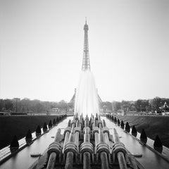 Eiffel Tower, Paris, France, black and white photography, landscapes, cityscapes