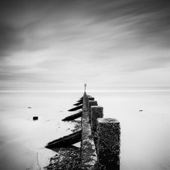 Pointing the Way, Scotland, Groyne, black and white photography, landscapes