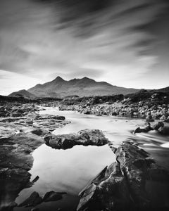 Black Cuillin Hills Mountains, Scotland, black and white photography, landscapes