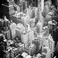 Manhattan Top of the Rock New York City, black and white photography, cityscapes