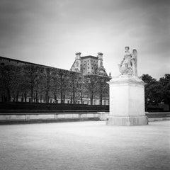 Angel Statue, Arc de Triomphe du Carrousel, Paris, black and white photography