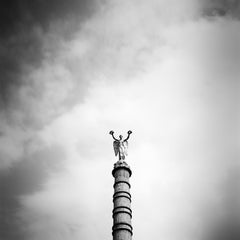 Fontaine du Palmier, Paris, France - B&W Fine Art Classic Cityscapes Photography
