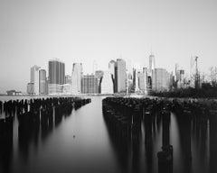 Manhattan Skyline 2, New York City, USA - Black and White Fine Art Photography