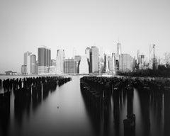 Manhattan Skyline, Skyscraper, New York City, black and white art photography