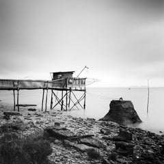 Stilt House, France - Black and White Fine Art Long Exposure Waterscapes Prints