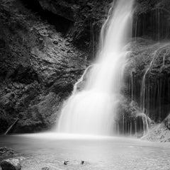 Waterfall, Bavaria, Germany, blackandwhite long exposure photography landscapes