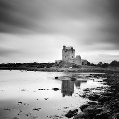 Dunguaire Castle, Ireland, black and white long exposure photography landscapes