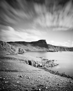 Neist Point, Isle of Sky, Scotland, black and white art photography, landscapes