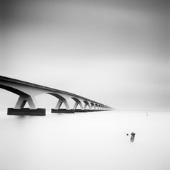 Zeeland Bridge, Netherlands, long exposure black and white photography, prints